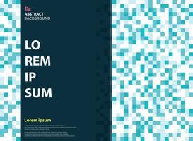 Abstracte pixel blauwe kleur van het ontwerp van de tijdschriftdekking. Decoreren in bedrijfspresentatie. vector