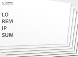 Abstracte witte kleur van papier gesneden sjabloon patroon ontwerp achtergrond. illustratie vector eps10