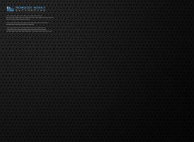 Abstract modern technologie zwart staalmalplaatje van de technologiegradiënt met cirkeltechnologie. illustratie vector eps10