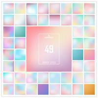 Abstract kleurrijk gradiënt vastgestelde patroon als achtergrond. U kunt gebruiken voor kleurovergangskleuren.