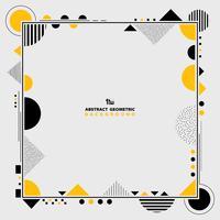Het abstracte moderne gele en zwarte geometrische kunstwerk van het vormkader. U kunt gebruiken voor het idee decoratie ontwerp, poster, advertentie, dekking, rapport.