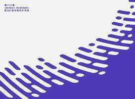 Abstracte streeplijn van purple op witte achtergrond. vector