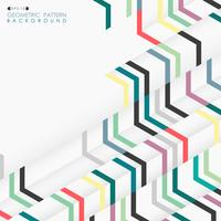 Abstracte geometrische illusie kleurrijke geometrische lay-outpatroon.