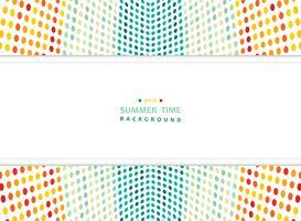 Abstracte zomer van kleurrijke gaas stippen patroon achtergrond met brede kopie ruimte. vector