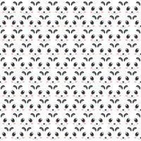 Panda patroon van hoofden decoratie ontwerp. 2D-stijl van animatiekunstwerk. vector
