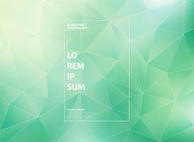 Abstracte moderne gradiënt groene munt van de lage patronen van de veelhoekdriehoek met witte overzichtsstijl.