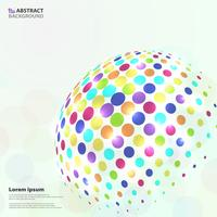 Abstract levendig kleurrijk cirkelpatroon op globale vormachtergrond. vector