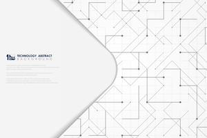 Abstracte vector grijze geometrische vierkante minimale het ontwerpdekking van technologie geometrische driehoek vierkante. illustratie vector eps10