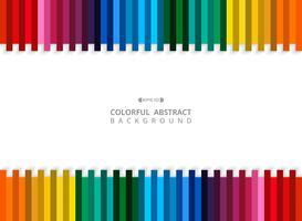 Samenvatting van de kleurrijke achtergrond van de streeplijn met exemplaarruimte. vector