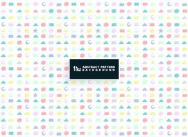 Abstract kleurrijk geometrisch patroon van leuk vormontwerp voor jong geitjeachtergrond. U kunt gebruiken voor het verpakken van papier, advertentie, poster, afdrukken.