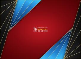 Abstract achtergrondluxe gouden kader op de dekking van het gradiënt rode zwarte blauwe zachte zachte patroon.