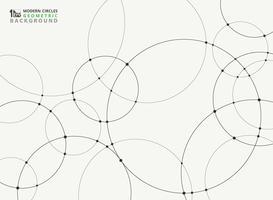 Abstracte eenvoudige zwarte cirkelverbinding futuristische achtergrond.