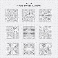 Abstracte zwarte vierkante stippen mesh stijlvolle patroon ingesteld.