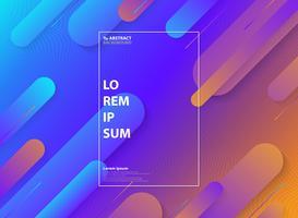 Samenvatting kleurrijk van minimaal geometrisch patroonontwerp met halftone achtergrond.