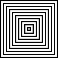 Samenvatting van vierkante piramide zwart-witte achtergrond.
