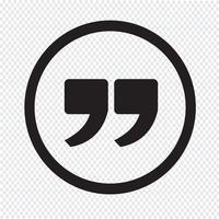 Citeer teken pictogram, aanhalingsteken