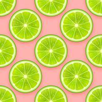 Verse Lime naadloze patroon Vector achtergrond