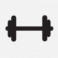 Dumbbell vector pictogram