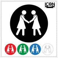 Mensen Handdruk pictogram