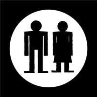 man en vrouw mensen pictogram vector
