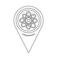 Kaart aanwijzer Atom Icon