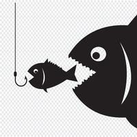 Grote vissen eten weinig vis