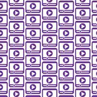 Patroon achtergrond media speler pictogram