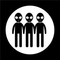 Alien pictogram symbool teken vector