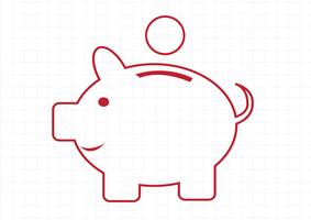 Piggy bank symbool teken