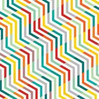 Samenvatting van lijnpatroon zigzag geometrische patroon achtergrond. vector
