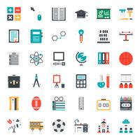 Onderwijs platte pictogram