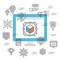 web ontwerp pictogram
