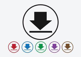 Pictogram downloaden en symboolknop uploaden