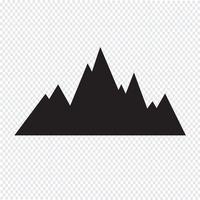 bergen pictogram symbool teken