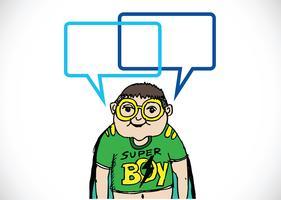 Mensen denken en mensen praten met dialoog tekstballonnen
