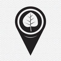 Kaart aanwijzer blad pictogram