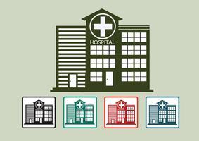 Het ziekenhuis het ontwerp van het de bouwpictogram in illustratie