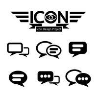 Chat pictogram symbool teken vector