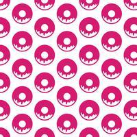 Donut patroon achtergrond vector