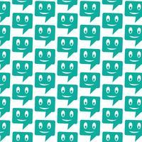Patroon achtergrond spraak pictogram spraak zeepbel