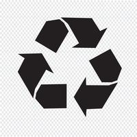 Recycle pictogram symbool teken vector