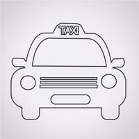 Taxi auto pictogram vector