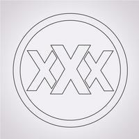 XXX pictogram symbool teken