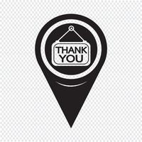 Kaartaanwijzer Bedankt pictogram