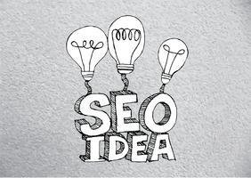 SEO idee SEO zoekmachine optimalisatie vector