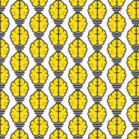hersenen gloeilamp pictogram vector