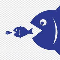 grote vissen eten kleine vissen