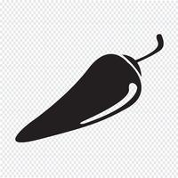 Chili peper pictogram vector