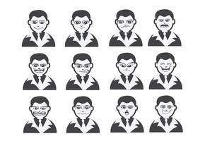 Cartoon gezichten instellen tekening illustratie
