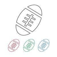 Amerikaans voetbal bal pictogram